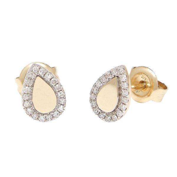 14 kt Yellow Gold Diamond Earrings