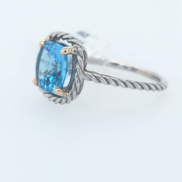 Blue Topaz Ring with a David Yurman look
