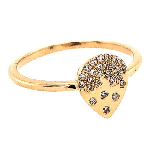 14 kt Yellow Gold Contemporary Diamond Ring