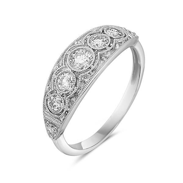 14 kt White Gold Vintage Inspired Ring