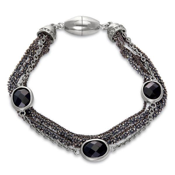 Sterling Multichain Bracelet with Black Onyx