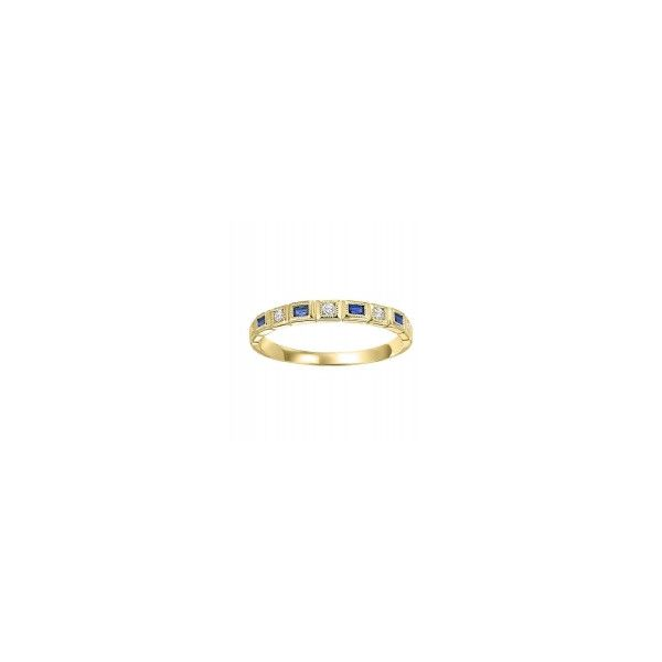 14K Yellow gold Stackable Sapphire Band Parris Jewelers Hattiesburg, MS