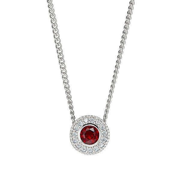 Sterling Silver January Birthstone Necklace Parris Jewelers Hattiesburg, MS