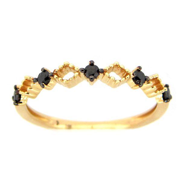 14 kt Yellow Gold Black Diamond Band