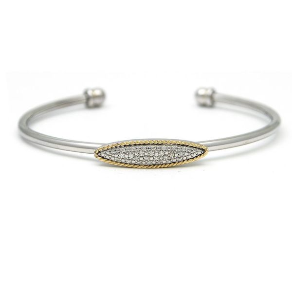 Sterling Silver and Diamond Bangle