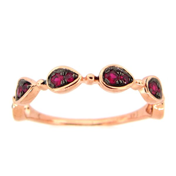 14 kt Rose Gold Ruby Stackable Band