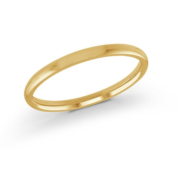 Yellow gold 2mm band