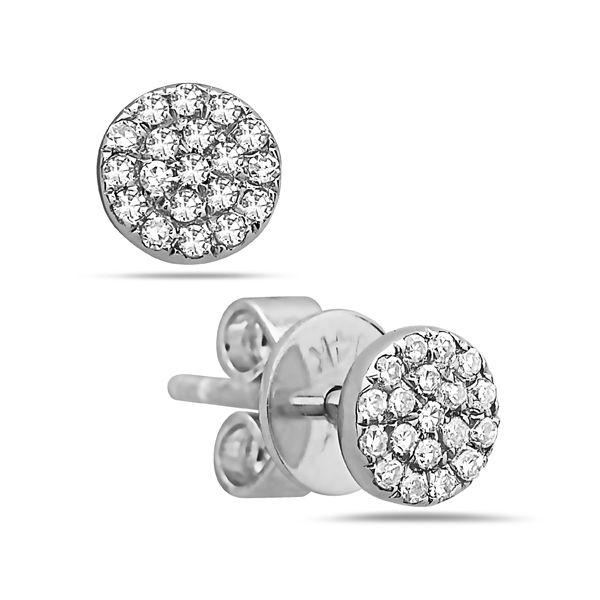 14KT White Gold Earrings Parris Jewelers Hattiesburg, MS