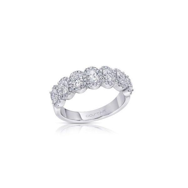 14 kt White Gold Diamond Anniversary Band  Image 2 Parris Jewelers Hattiesburg, MS