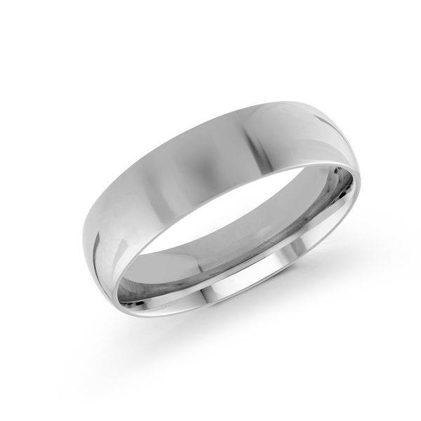 white gold 6mm wide wedding band