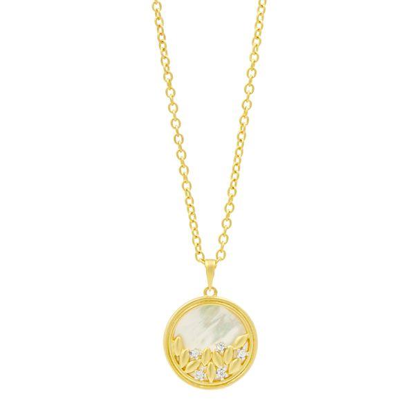 14K Gold Plated Fleur Bloom Necklace