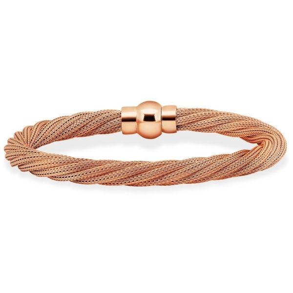 Sterling Silver Rose Gold Plated Rope Bracelet