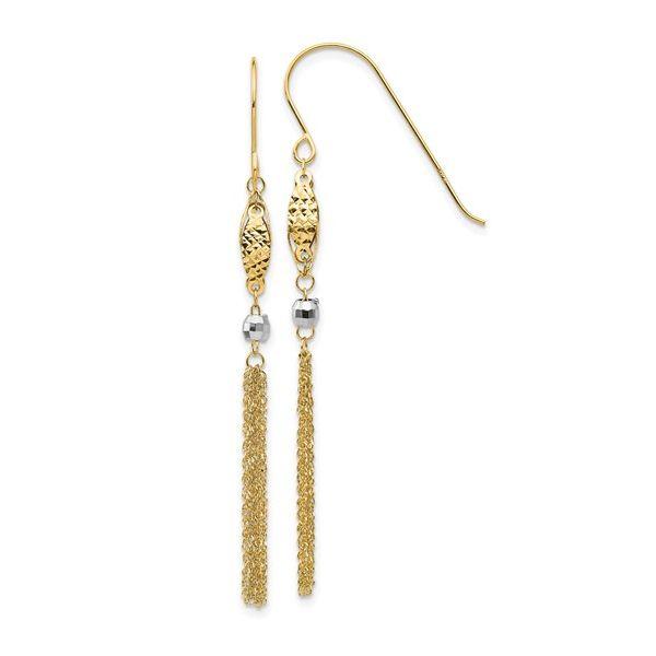 14K Two-Tone Dangle Earrings