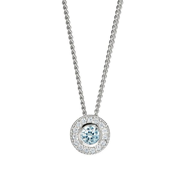 Sterling Silver March Birthstone Necklace Parris Jewelers Hattiesburg, MS