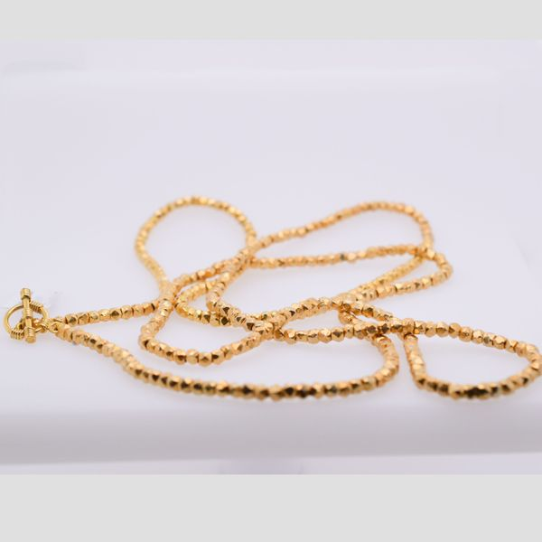 "Silver-Plated Gold 34"" Nugget Necklace"