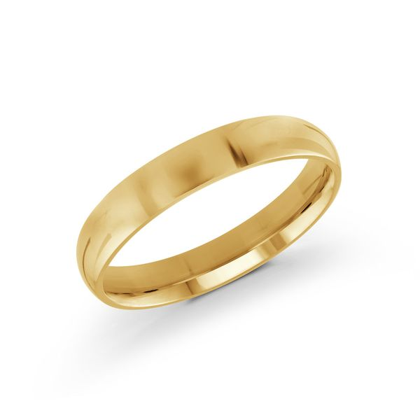 yellow gold 4mm band