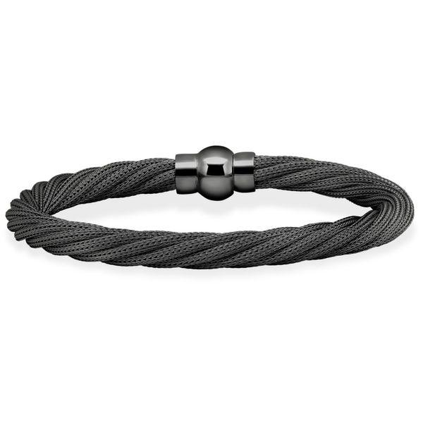 Sterling Silver Gunmetal Rope Bracelet