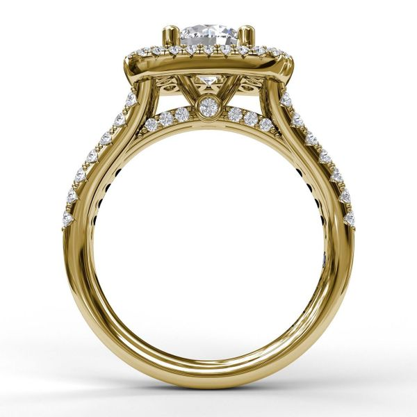 14 kt Yellow Gold Double Halo Engagement Ring