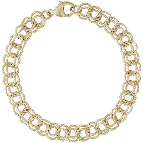 Yellow Gold Plated  Link Charm Bracelet