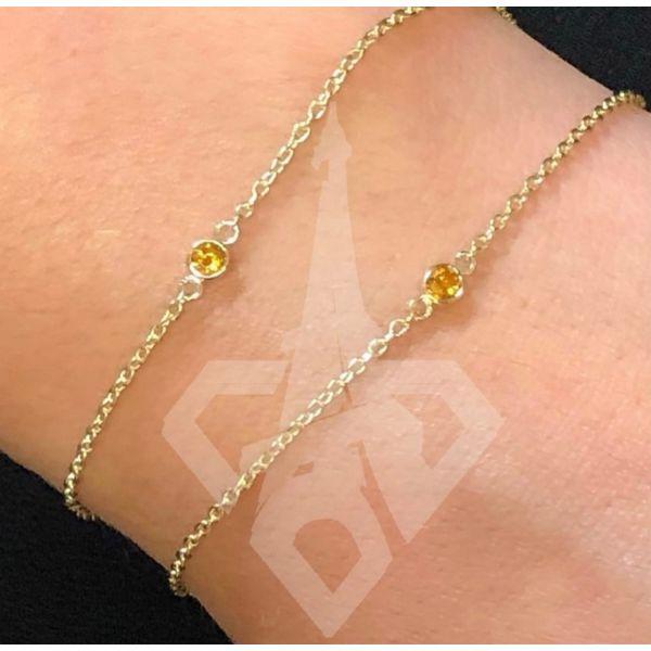 14 kt Customizable Colored Stone Bracelet