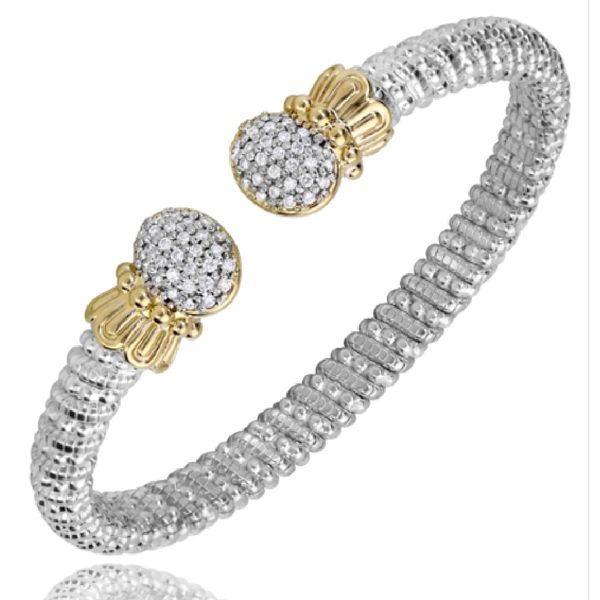 Sterling Silver and 14 kt Yellow Gold Diamond Bracelet by Vahan