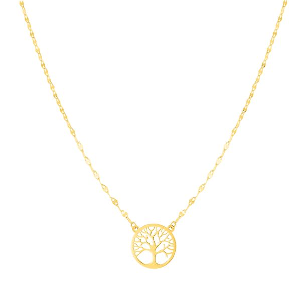 14kt yellow gold tree of life necklace