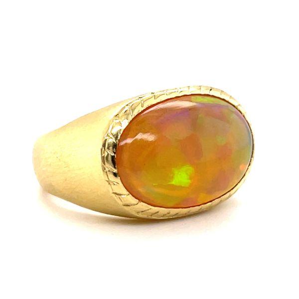 18k yellow gold custom opal ring