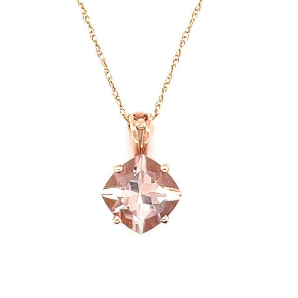 14K Rose gold custom morganite pendant