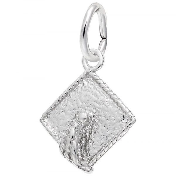 Sterling Silver Graduation Top Charm
