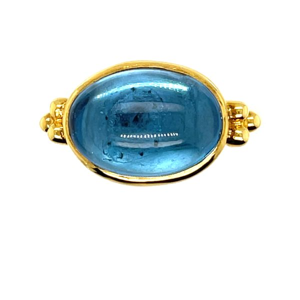 14 kt Yellow Gold Blue Topaz Ring
