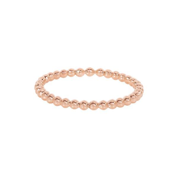 14K Rose Gold Beaded Ring