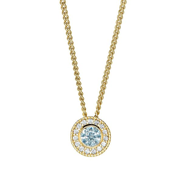 Gold Vermeil March Birthstone Necklace Parris Jewelers Hattiesburg, MS