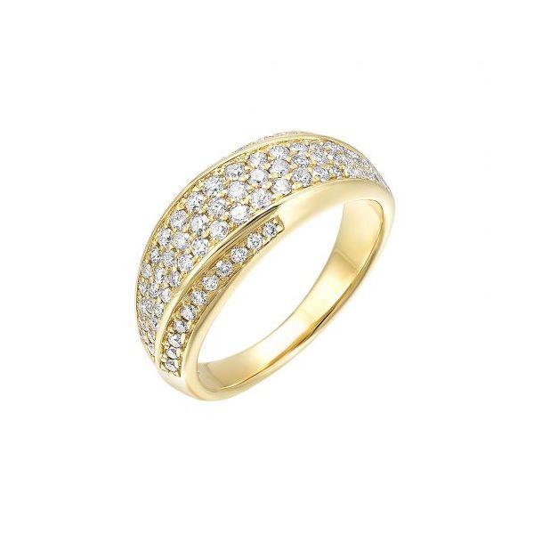 14 kt Yellow Gold Diamond Fashion Ring