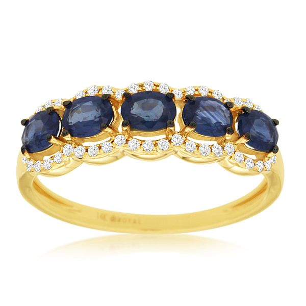 14 kt Yellow Gold Sapphire and Diamond Ring