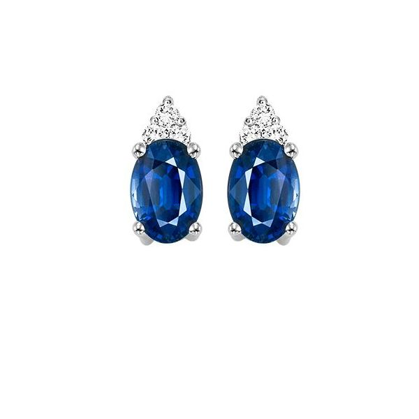 10 kt White Gold Sapphire and Diamond Earrings