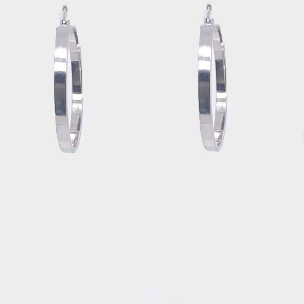White Gold Hoop Earring