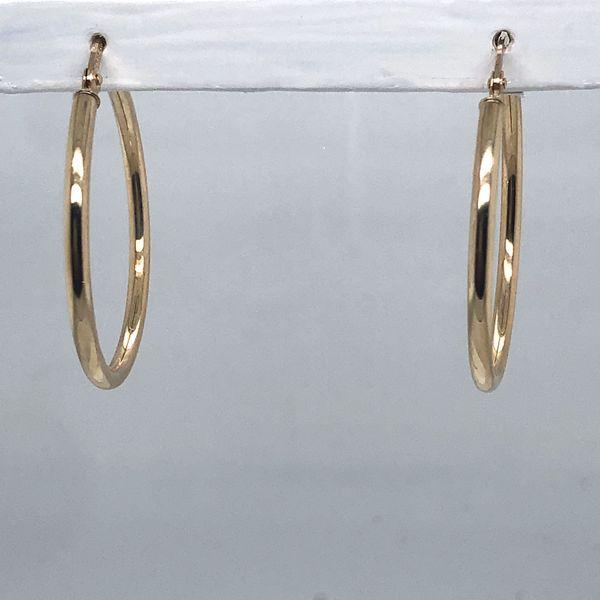 Yellow Gold Hoop Earring