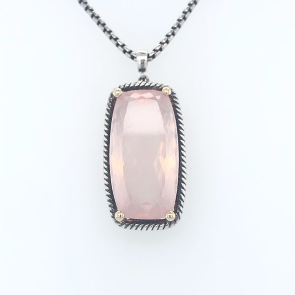Rose Quartz Necklace  David Yurman look