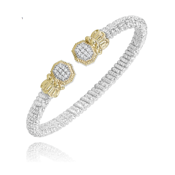 14 kt Yellow Gold and Sterling Silver with Diamonds Bracelet by Alwand Vahan