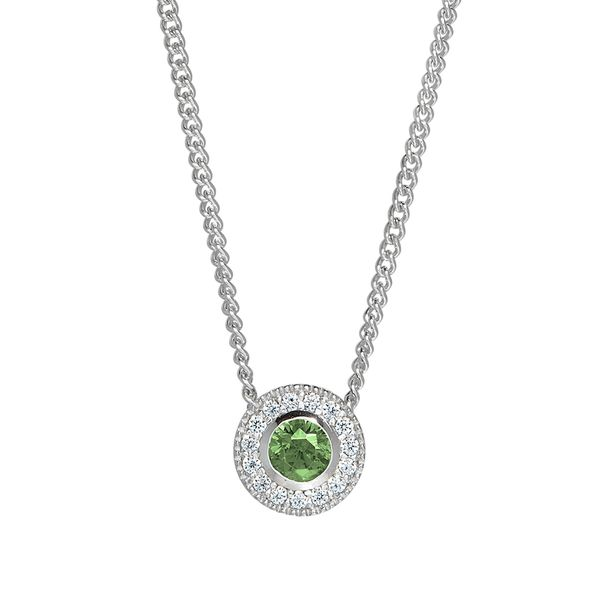 Sterling Silver August Birthstone Necklace Parris Jewelers Hattiesburg, MS