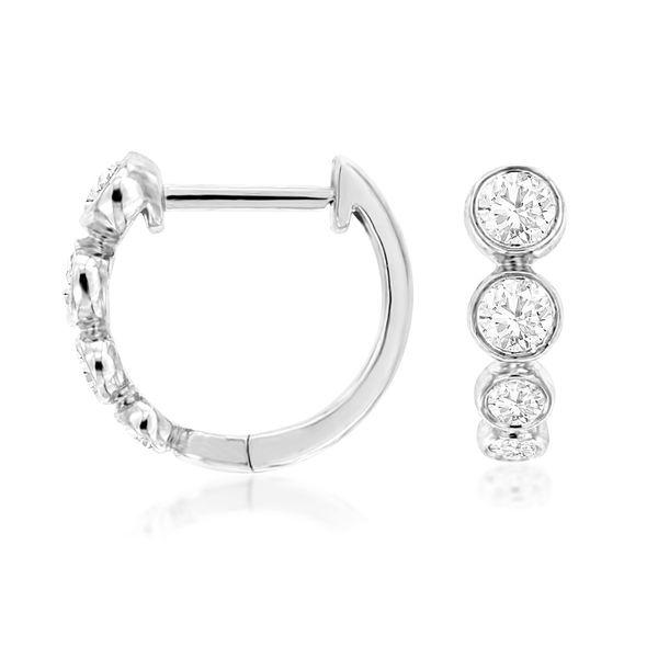 Diamond Bezel Huggie Hoops Parris Jewelers Hattiesburg, MS
