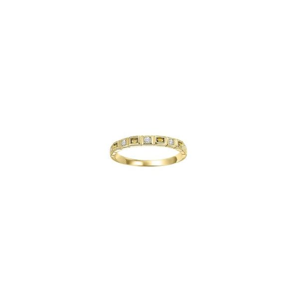 10 kt Yellow Gold Citrine and Diamond Stackable Band