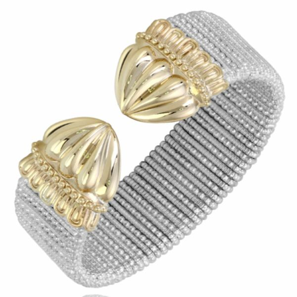 Sterling Silver and 14 kt Yellow Gold Bracelet  by Alwand Vahan