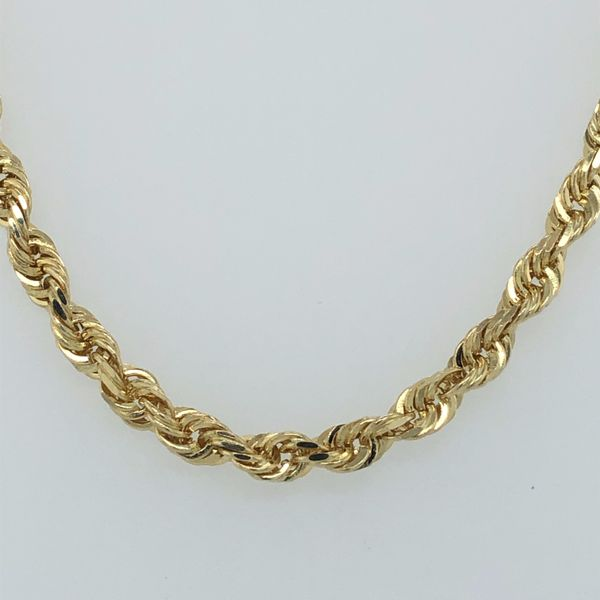 10 kt Yellow Gold Rope Chain Necklace