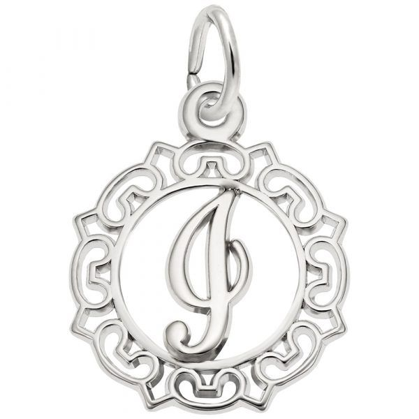 Sterling Silver I Initial Charm