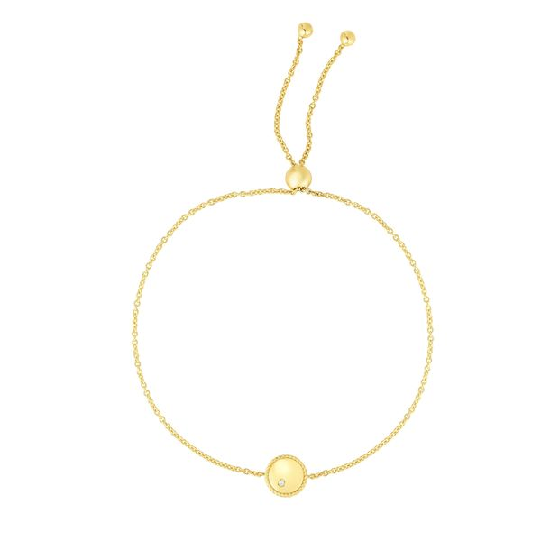 14K Gold Diamond Round Piccolini Adjustable Bracelet Parris Jewelers Hattiesburg, MS