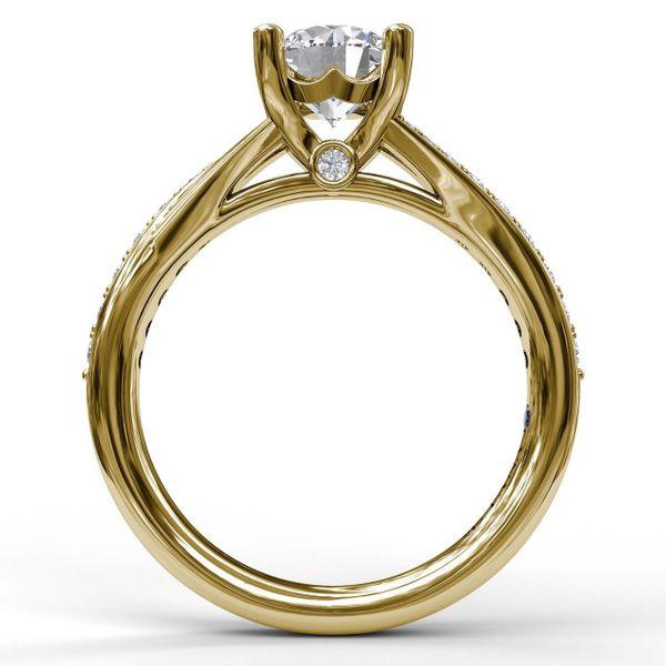 Yellow Gold Designer Split Band Engagement Ring