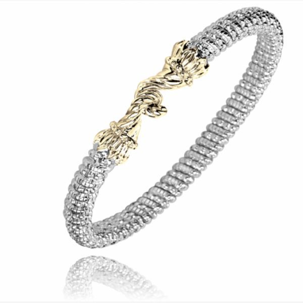 Sterling Silver and 14 kt Yellow Gold Bracelet by Vahan