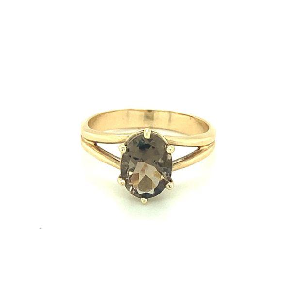 14K Yellow Gold Smokey Quartz Ring