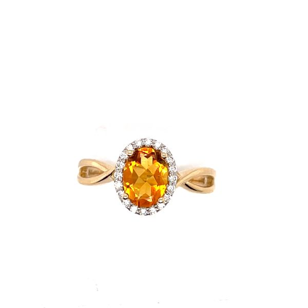 14 kt Yellow Gold Citrine Ring